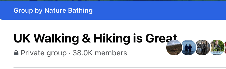 UK Walking and Hiking Facebook Group