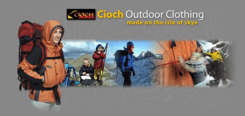 Cioch Outdoor Clothing - made on the Isle of Sky